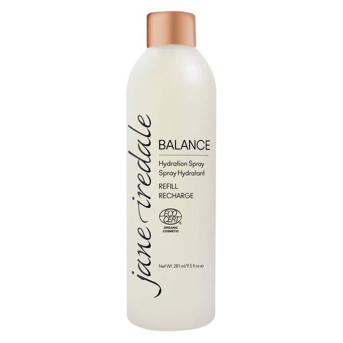 Bottle of Jane Iredale Balance Hydration Spray Refill 9.5 Ounces