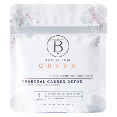 Bag of Bathorium Crush Charcoal Garden Detox 120 Grams | Optimum Health Vitamins, Canada