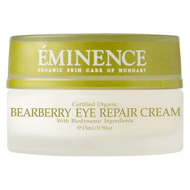 Jar of Eminence Bearberry Eye Repair Cream 15 Milliliters