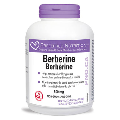 Bottle of Berberine 500 mg 120 Capsules