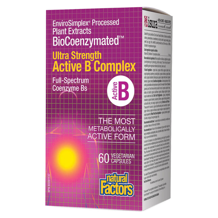 BioCoenzymated™ Active B Complex Ultra Strength 60 Vegetarian Capsules