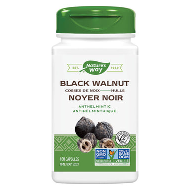 Bottle of Nature's Way Black Walnut Hulls 100 Capsules