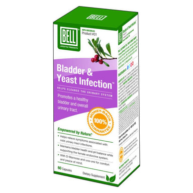 Box of Bell Bladder & Yeast Infection 60 Capsules