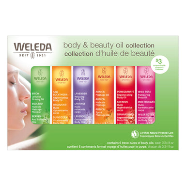 Box of Weleda Body & Beauty Oil Collection