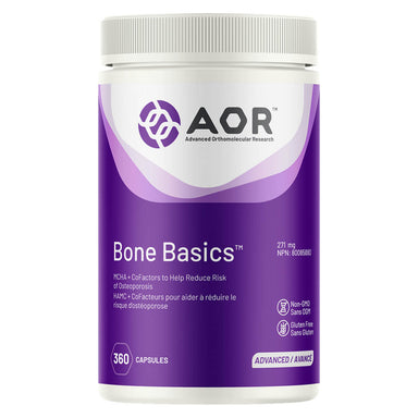 Bottle of AOR Bone Basics™ 271 mg 360 Capsules