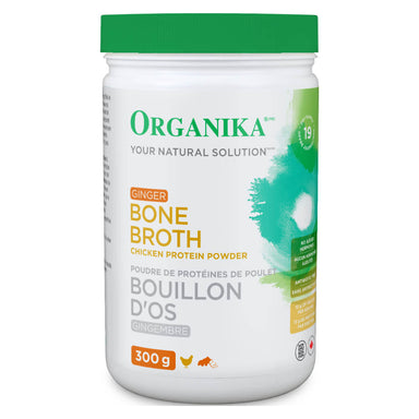 Bottle of Bone Broth Chicken Protein Powder Ginger Flavour 300 Grams