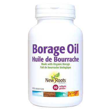 Bottle of Borage Oil Organic 1000 Milligrams 90 Softgels