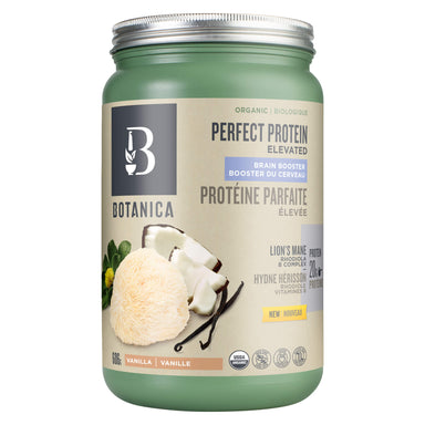 Container of Perfect Protein Elevated Brain Booster Vanilla 606 Grams