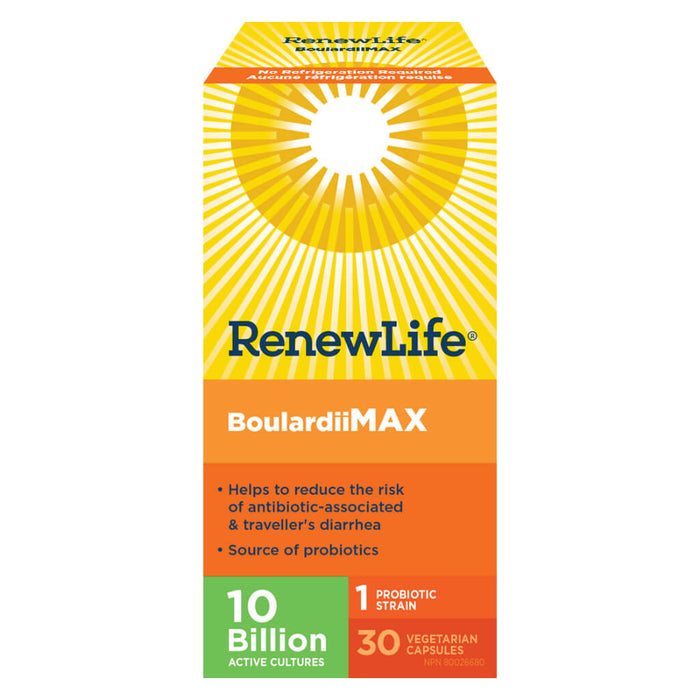 Box of Boulardii Max 10 Billion 30 Vegetable Capsules