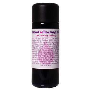 Bottle of Living Libations Breast Massage Oil 50 Milliliterse Oil