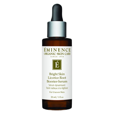 Dropper Bottle of Eminence Bright Skin Licorice Root Booster-Serum 30 Milliliters