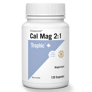 Bottle of Calcium Magnesium 2:1 Chelazome™ 120 Capsules
