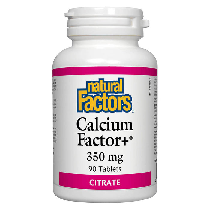 Bottle of Calcium Factor+ Citrate 350 mg 90 Tablets