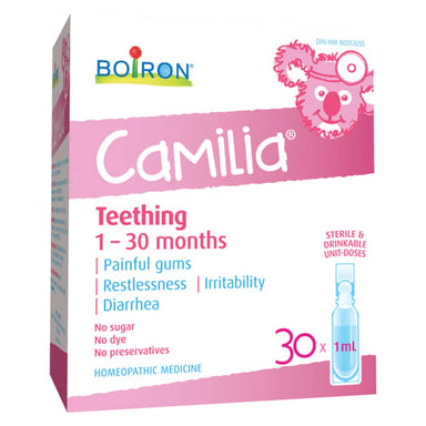Box of Boiron Camilia 30 Doses