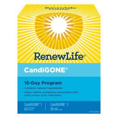 Box of Renew Life CandiGONE Kit