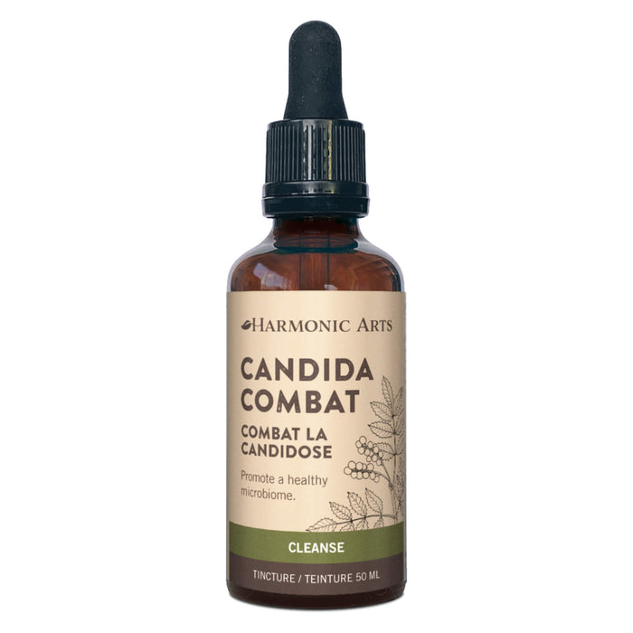 Dropper Bottle of Harmonic Arts Candida Combat Tincture 50 Milliliters