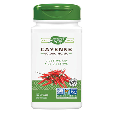 Bottle of Nature's Way Cayenne 40000 HU 100 Capsules