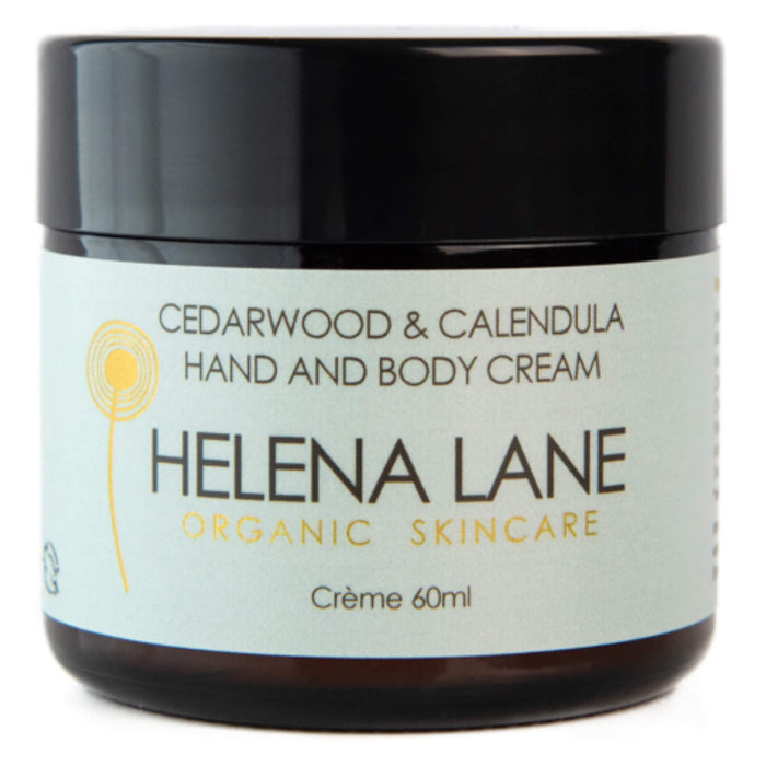 Jar of Helena Lane Cedarwood & Calendula Hand and Body Cream 60 Milliliters