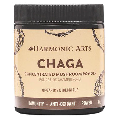 Jar of Harmonic Arts Chaga Concentrated Mushroom Powder 45 Grams