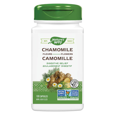 Bottle of Nature's Way Chamomile Flowers 100 Capsules