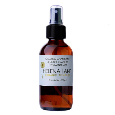 Spray Bottle of Helena Lane Chamomile & Rose Geranium Hydrating Mist 120 Milliliters