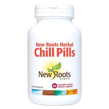 Bottle of New Roots Chill Pills 60 Vegetable Capsules