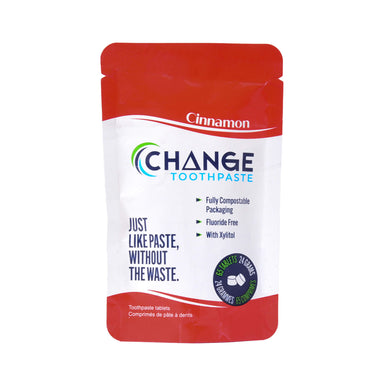 Change Toothpaste Cinnamon Toothpaste Tablets 65 Tablets 24 Grams | Optimum Health Vitamins, Canada