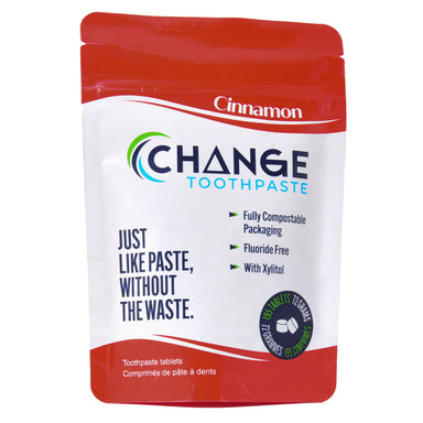 Change Toothpaste Cinnamon Toothpaste Tablets 195 Tablets 72 Grams | Optimum Health Vitamins, Canada
