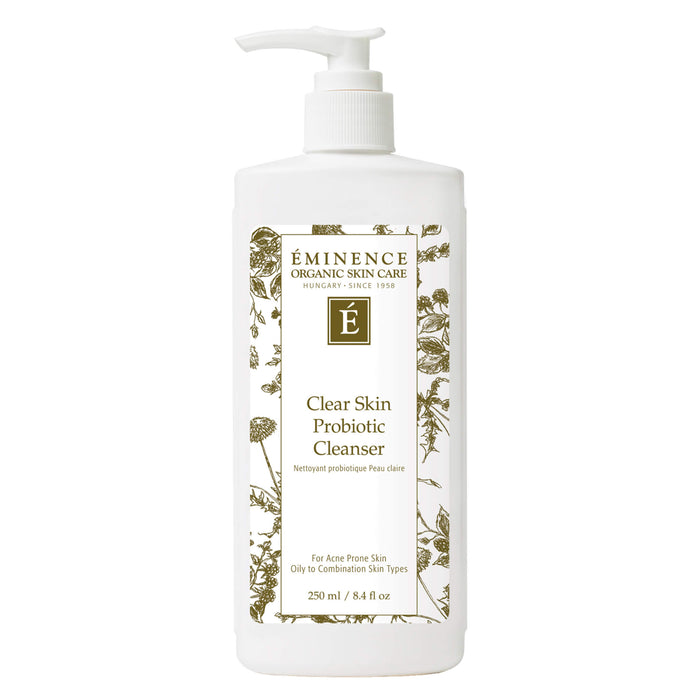 Pump Bottle of Eminence Clear Skin Probiotic Cleanser 250 Milliliters