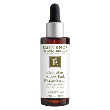 Dropper Bottle of Eminence Clear Skin Willow Bark Booster-Serum 30 Milliliters