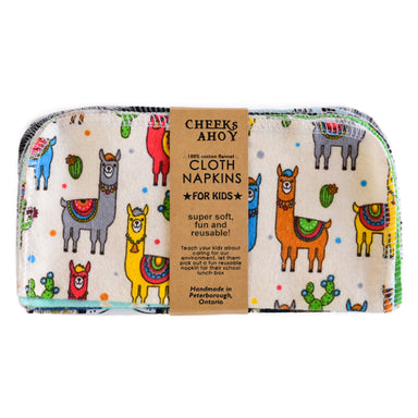 Cheeks Ahoy Cloth Napkins, Kids Assorted Mix