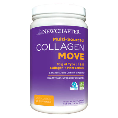 Bottle of New Chapter Collagen Move 210 Grams