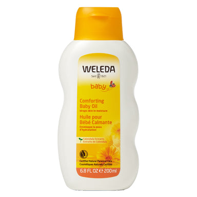 Bottle of Weleda Comforting Baby Oil - Calendula 6.8 Ounces