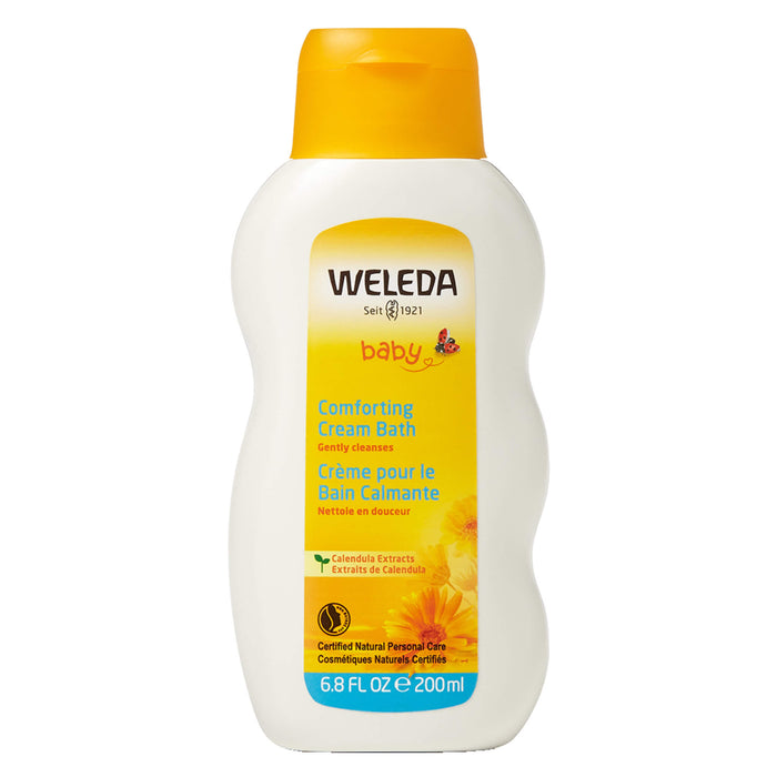Bottle of Weleda Comforting Cream Bath - Calendula 6.8 Ounces