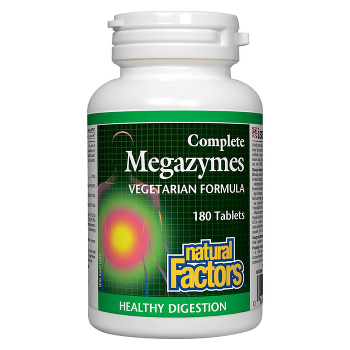 Bottle of Complete Megazymes Vegetarian Formula 180 Tablets