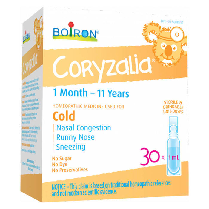 Box of Children's Coryzalia 30 Doses