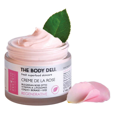 Jar of The Body Deli Creme De La Rose Moisturizer (Regenerative) 2 Ounces