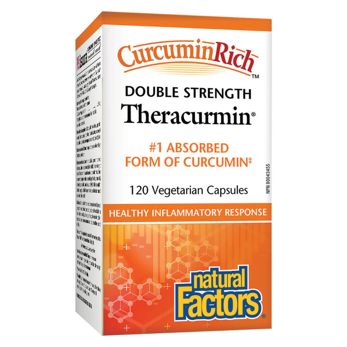 CurcuminRich™ Theracumin (Double Strength) 120 Vegetarian Capsules