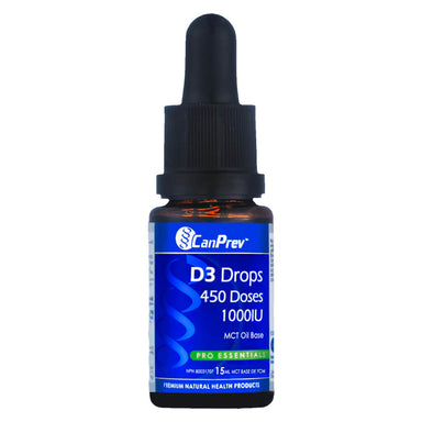 Dropper Bottle of CanPrev D3 Drops 15 Milliliters