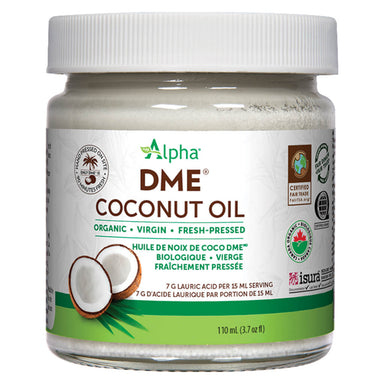 Jar of Alpha Health DME Coconut Oil Original Flavour 110 mL