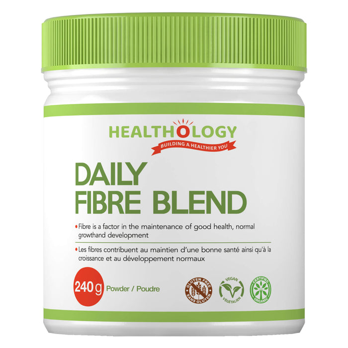 Container of Healthology Daily Fibre Blend 240 Grams