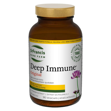 Bottle of St. Francis Herb Farm Deep Immune Capsules 90 Vegicaps