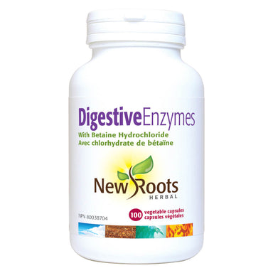 Bottle of Digestive Enzymes 100 Vegetable Capsules