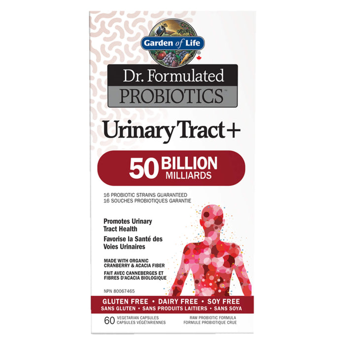 Box of Garden of Life Dr. Formulated Probiotics Urinary Tract+ 50 Billion CFU Shelf-Stable 60 Vegetarian Capsules