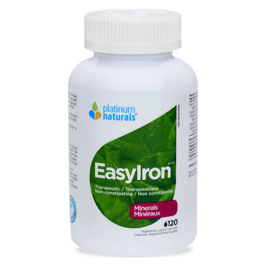 Bottle of EasyIron 120 Vegetarian Liquid Capsules