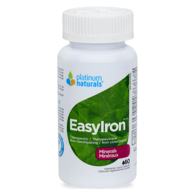 Bottle of EasyIron 60 Vegetarian Liquid Capsules