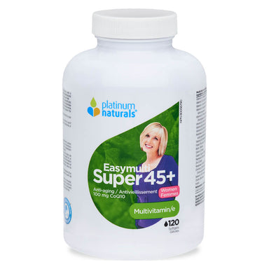 Bottle of EasyMulti Super 45+ for Women 120 Softgels