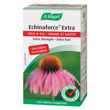 Box of Echinaforce Extra Cold & Flu Extra Strength 120 Tablets | Optimum Health Vitamins, Canada