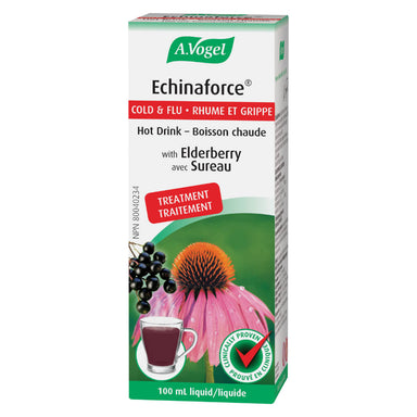 Box of A. Vogel Echinaforce Cold & Flu Extra Strength Hot Drink 100 mL