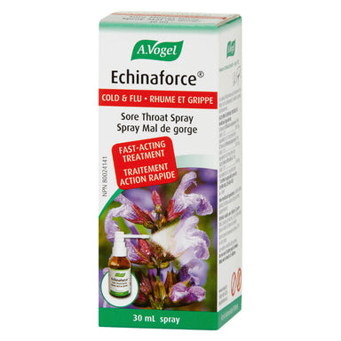 Box of A. Vogel Echinaforce® Cold & Flu Sore Throat Spray 30 Milliliters